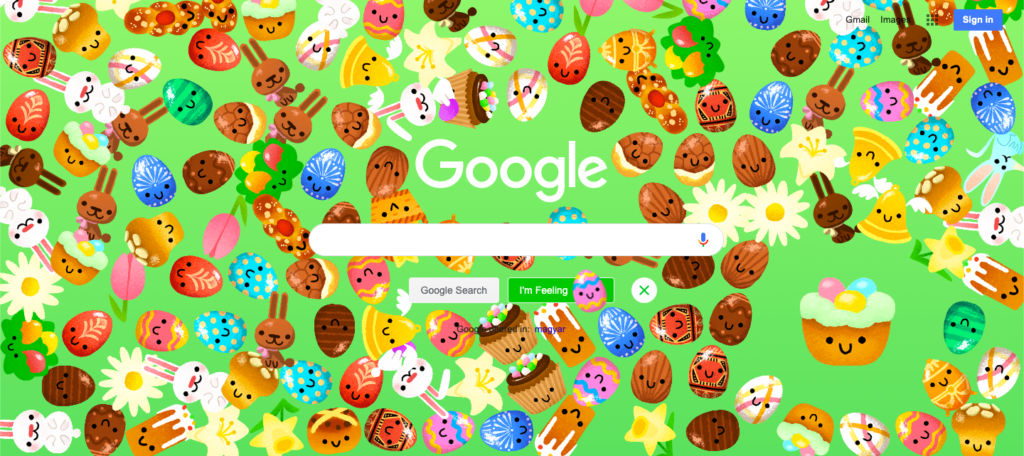 Easter eggek a Googleben