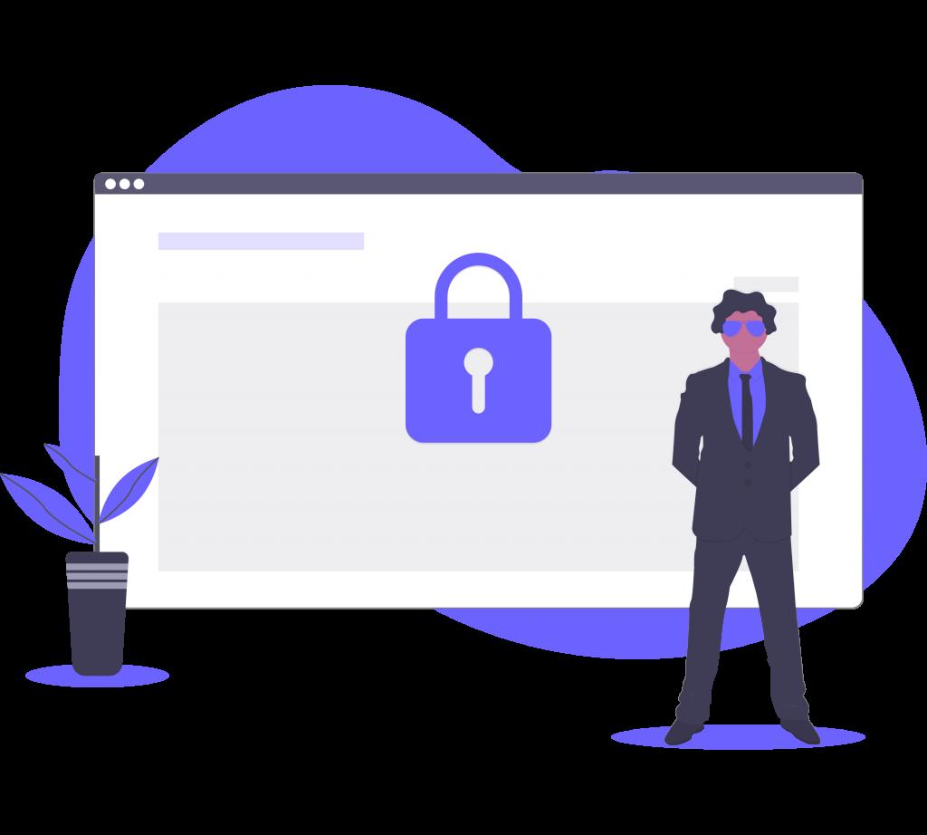 Megbízható és biztonságos weboldal piktogram